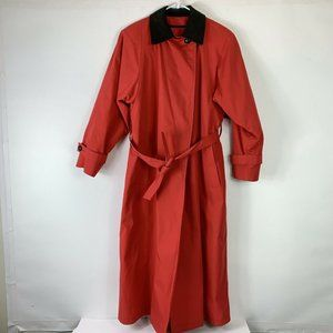 London Fog Women Size 8R Red Maincoats Trench Coat